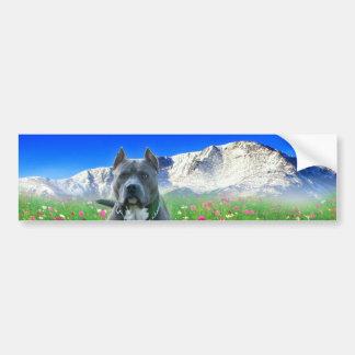 Terrieren för tjuren för blåttamerikangropen, Pike Bildekal