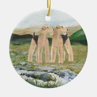 Terriers i Irland Julgransprydnad Keramik