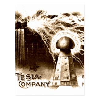 Tesla brevhuvud vykort