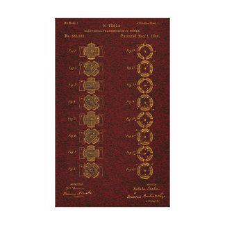 Tesla patent 00382280 Sht 1 Canvastryck