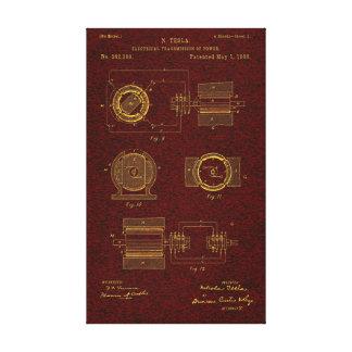 Tesla patent 00382280 Sht 2 Canvastryck