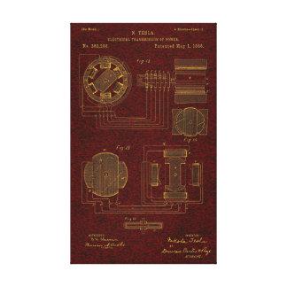 Tesla patent 00382280 Sht 3 Canvastryck