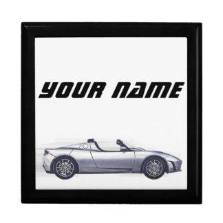 """""""Tesla Roadster"""" träsmyckeskrin (anpassadet) Smyckeskrin"""
