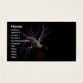 Tesla spoleljusbågsbildning visitkort