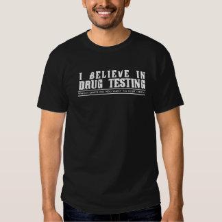 Testa för drog tshirts