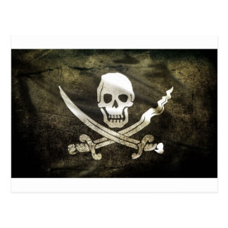 Tête de mort pirat vykort