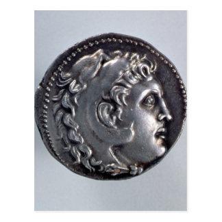Tetradrachma som visar Alexander underbaren Vykort