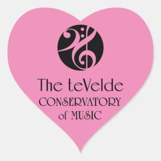 teVeldedrivhus av musikhjärtaklistermärkear Hjärtformat Klistermärke