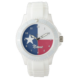 Texanflaggaklockor   Personalizable med namn Armbandsur