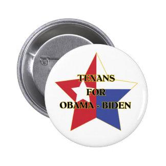 Texans för Obama-Biden Standard Knapp Rund 5.7 Cm
