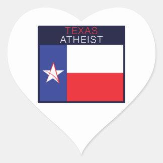 Texas ateist hjärtformat klistermärke