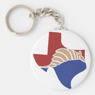 Texas bältdjur - TX påstår design Rund Nyckelring