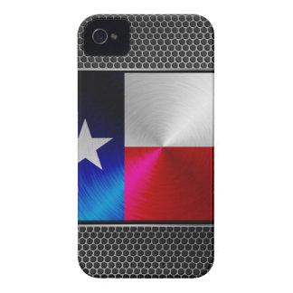 Texas borstade metallflagga Case-Mate iPhone 4 skal