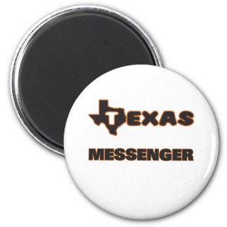 Texas budbärare magnet rund 5.7 cm
