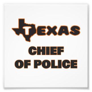 Texas chef av polis fototryck
