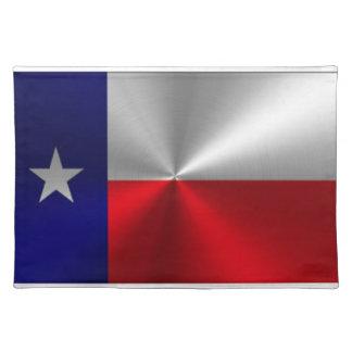 Texas flagga borstad metall bordstablett
