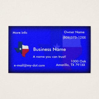 Texas Flagga-Karta visitkortar Visitkort