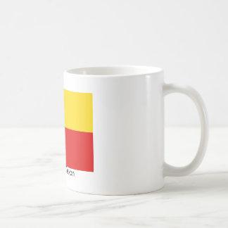 Texas flagga med den tyska flaggafärgmuggen kaffemugg