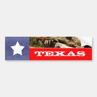 Texas flagga och hästar bildekal