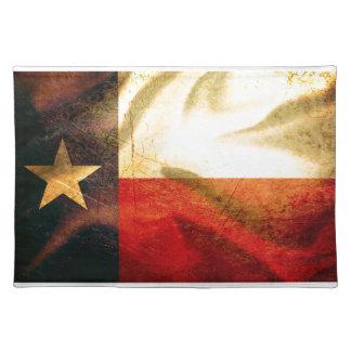 Texas flagga som vinkar silke bordstablett