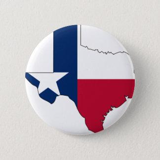 Texas flaggakarta standard knapp rund 5.7 cm
