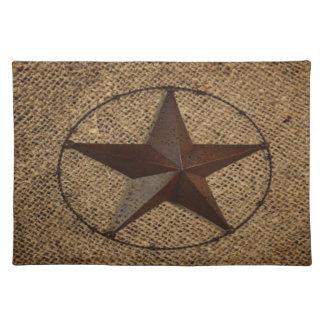 Texas för lantlig Burlap för westernt land Bordstablett