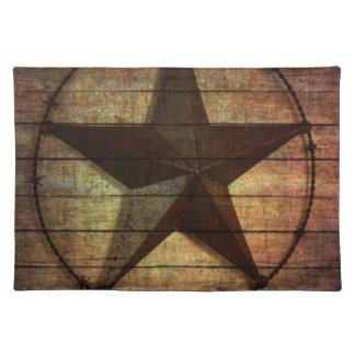 Texas för primitiv ladugård för westernt land Wood Bordstablett