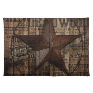 Texas för westernt land för ladugård Wood Lone Bordstablett