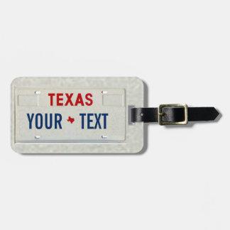 Texas handelsresande bagagebricka