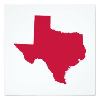 Texas i rött fyrkantigt 13,3 cm inbjudningskort