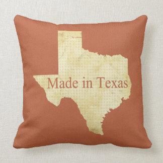 Texas kräm och rostigt rött kvadrerar dekorativ kudde