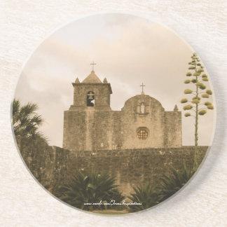 Texas Kyrka-Vintage/sepia Glasunderlägg I Sandsten