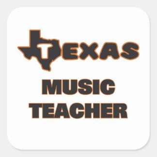 Texas musiklärare fyrkantigt klistermärke