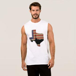 Texas patriotisk olje- borranderigg sleeveless tee