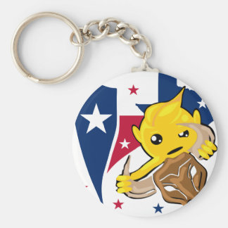 Texas RodeoSmiley Rund Nyckelring