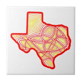 Texas Scribbleprints konst Liten Kakelplatta