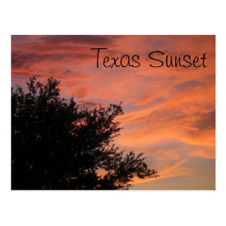 Texas solnedgång vykort