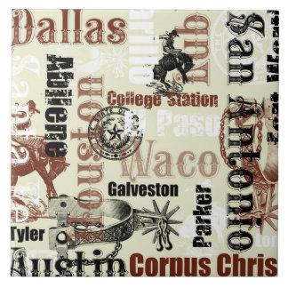 Texas städer, Broncs och sporrar Kakelplatta