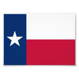 Texas statlig flagga - högkvalitativ autentisk fototryck