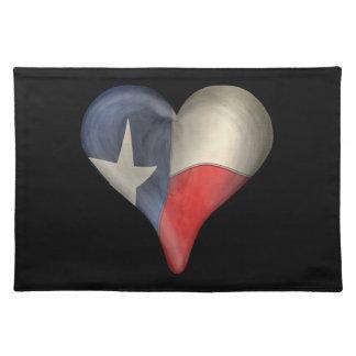 Texas statlig flagga i en hjärta bordstablett