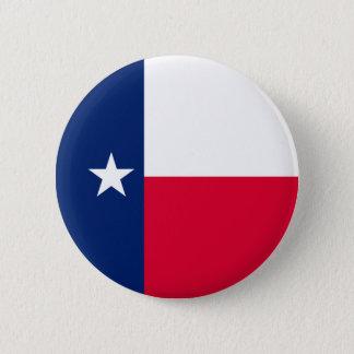 Texas statlig flaggadesign standard knapp rund 5.7 cm