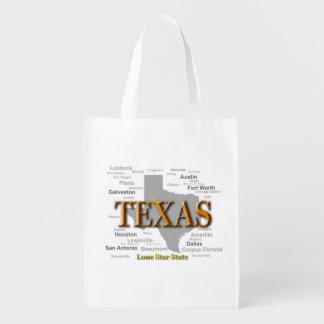 Texas statlig karta återanvändbar påse