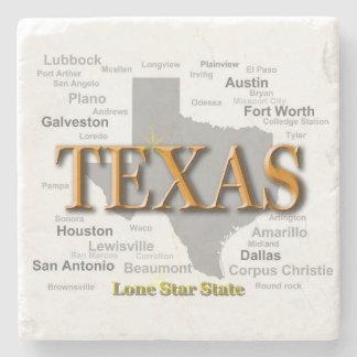 Texas statlig karta stenunderlägg