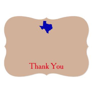 Texas tackkort 12,7 x 17,8 cm inbjudningskort