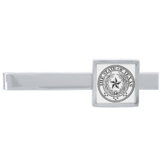 Texas Tiepub, pläterat silver Slipsnål Med Silverfinish