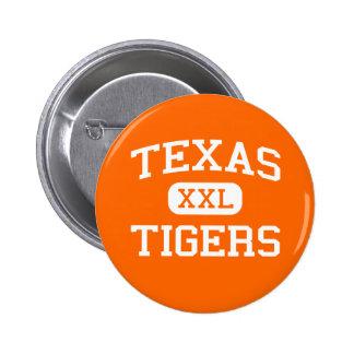 Texas - tigrar - högstadium - Texarkana Texas Standard Knapp Rund 5.7 Cm