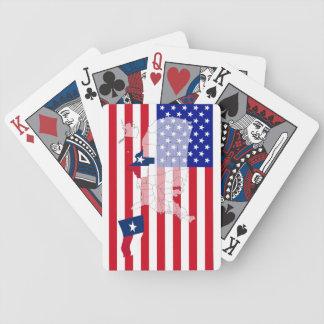 Texas-USA statlig flaggakarta som leker kort Spelkort