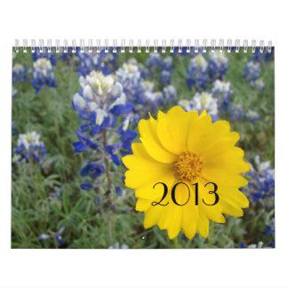 Texas vildblommakalender kalender