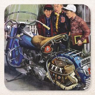 Texs motorcykel underlägg papper kvadrat
