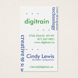 Text Bling - teknologi Visitkort